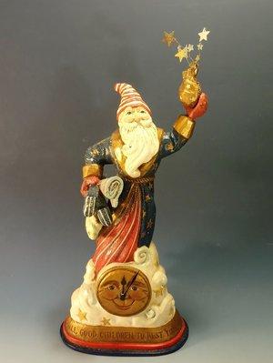 聖誕老公公時鐘:聖誕節 老公公 時鐘 居家 家飾 設計 擺飾 收藏 禮品 雜貨