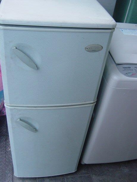 聲寶雙門冰箱上冷凍下冷藏八成新3500含運 保固 大清倉 破盤價