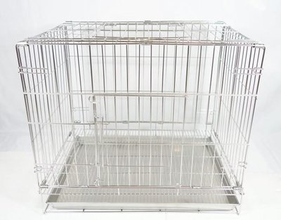【優比寵物】2尺不鏽鋼/ 不銹鋼304#(雙門活動折疊式/ 摺疊式)白鐵狗籠/ 貓籠/ 兔籠/ 寵物籠-促銷價-台灣製造- 高雄市