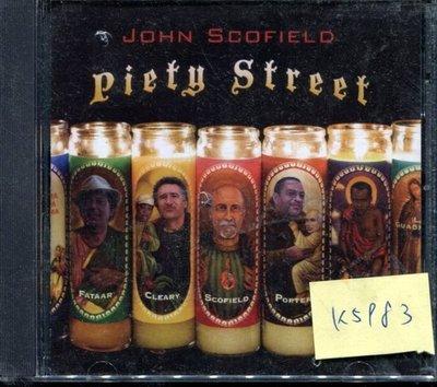 *真音樂* JOHN SCOFIELD / PIETY STREET 二手 K5983 (封面底破)  (清倉.下標賣1)