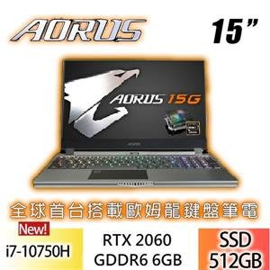 含發票技嘉 AORUS 15G KB-7TW2030MH GeForce RTX™ 2060台灣製* ☆第十代i7、