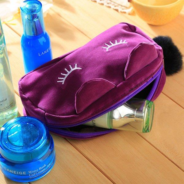 睫毛睡眠貓毛球收納包 化妝包【JI2340】《Jami Honey》