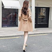 女士風衣女 中長款 韓版春季新款秋裝外套氣質外衣端莊大氣修身 【極有家創意生活館】