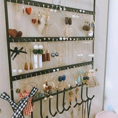 免運~~創意多層耳環架飾品展示架子家用耳釘耳墜耳飾收納掛架項錬首飾盒