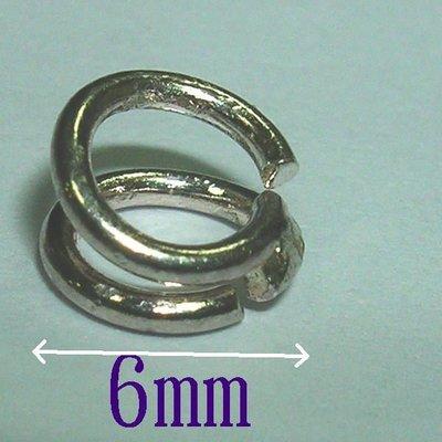 琥珀貓~【925純銀材料配件】扣圈~8mm陰陽圈~一個