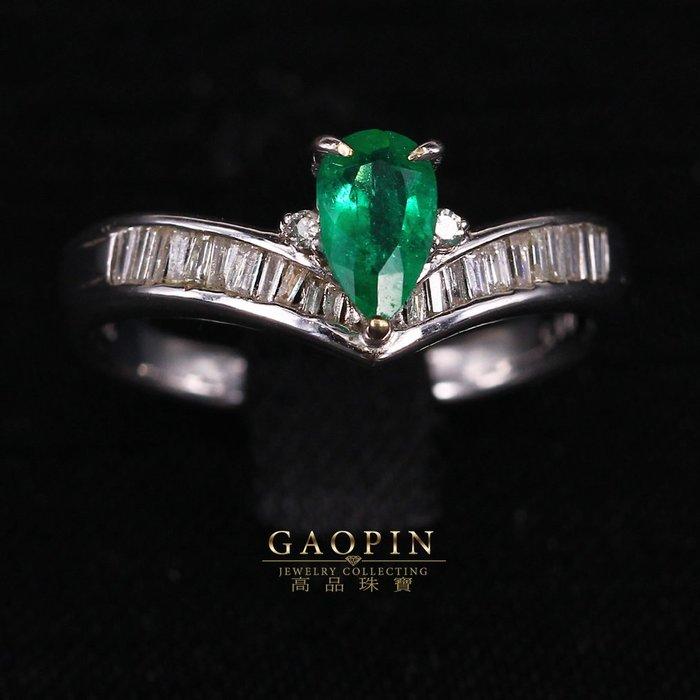 【高品珠寶】哥倫比亞微油45分祖母綠戒指 #846