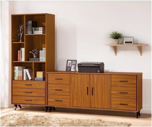 【DH】貨號VC826-3《里德安》8.6尺書櫃組(圖一) 2.6尺三抽書櫃+6尺文件收納書櫃。台灣製可訂做主要地區免運