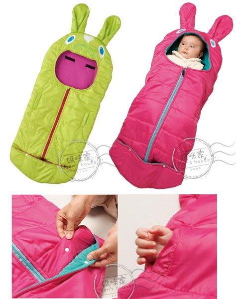 媽咪家【K012】K12舖綿防風包被 前開 輕量 厚綿 抱被 包巾 寶寶睡袋 抱袋 滿月禮 手腳可伸出 單一尺寸