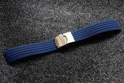 22mm 深藍色 F1胎紋矽膠錶帶替代各式相同規格原廠貨seiko,oris藍水鬼可替代使用