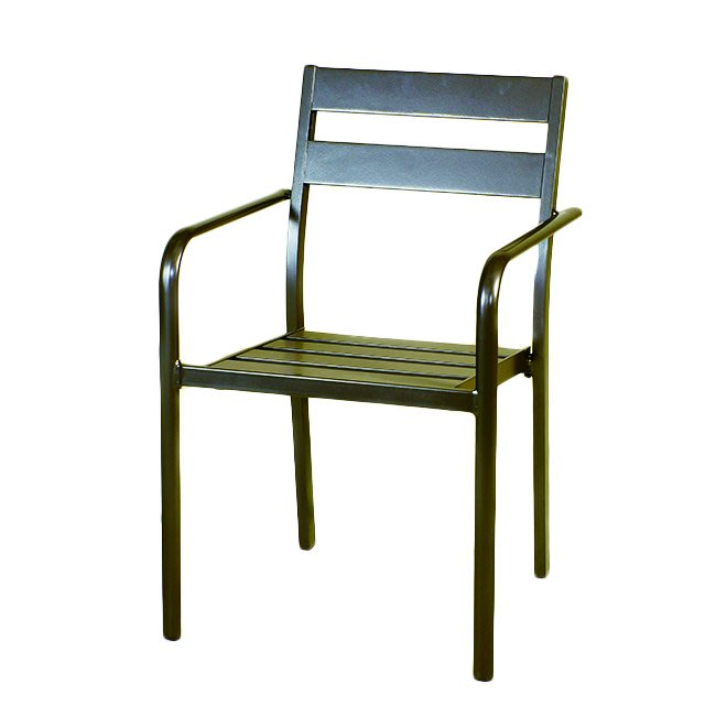 【紅豆戶外休閒傢俱】靠背二板鋁合金椅/庭園桌椅/咖啡廳桌椅/營業桌椅/餐廳桌椅/中庭桌椅/民宿桌椅/農場桌椅/鋁合金桌椅