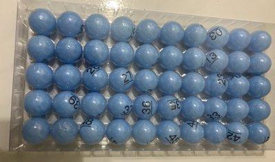 (藍色數字摸彩球)扭蛋球多色桌球抽獎球摸彩球彩球摸彩用乒乓球活動用乒乓球彩色乒乓球尾牙抽獎開獎球賓果球號碼球彩色數字球