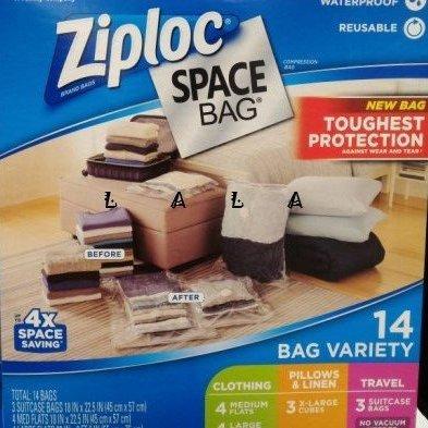 ZIPLOC  真空收納袋/壓縮袋(14入)COSTCO好市多代購