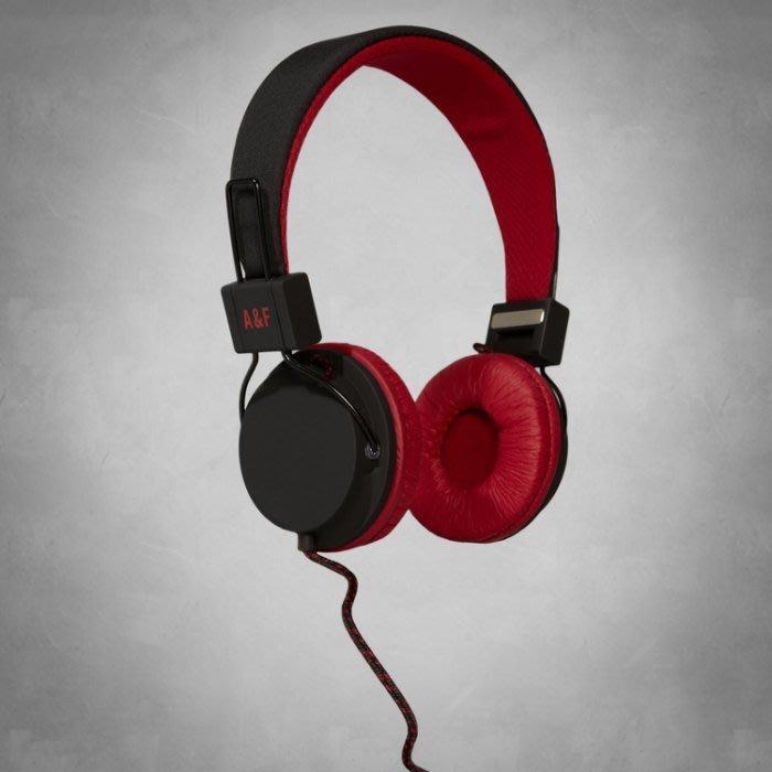 Maple麋鹿小舖 Abercrombie & Fitch* AF男生款紅黑配色耳罩式耳機 * ( 現貨 )