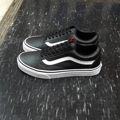VANS Old Skool Classic Tumble 黑色 黑白 皮革 基本款 板鞋