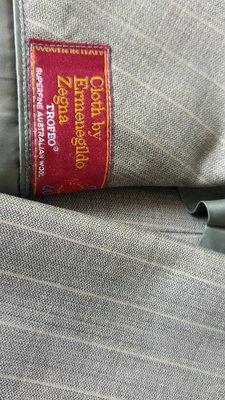 名士館訂製 【Ermenegildo Zegna 】TROFEO 高等級SUPERFINE淺鐵灰極細條紋雙排扣西裝上衣