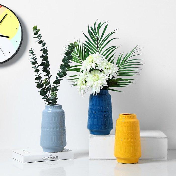 〖洋碼頭〗北歐創意陶瓷花瓶擺件現代簡約家用客廳餐桌水培插花花器裝飾品 bhm304