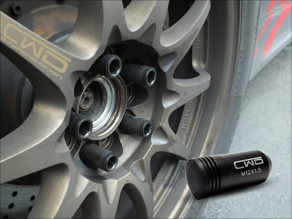 光速改裝部品 CWD 內六角 鋁圈螺絲 1.25 1.5 TIERRA FOCUS 馬三 馬五 K6 K8 FIT