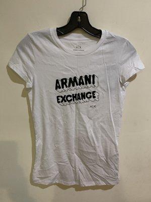 (年底搬家大出清)全新Armani A/X 塗鴉卡通字母短袖T恤
