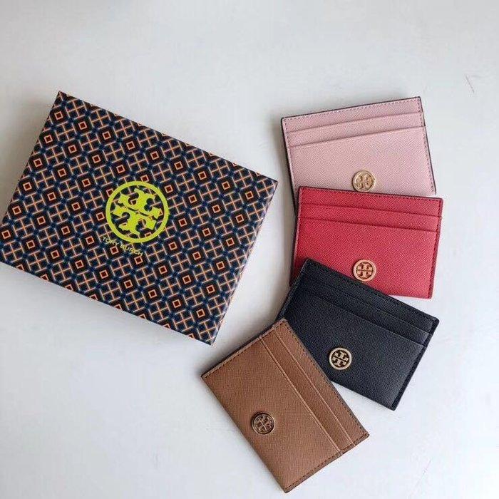 ╭☆包媽子店☆TORY BURCH Robinson Card Case 卡包/零錢包~4色~