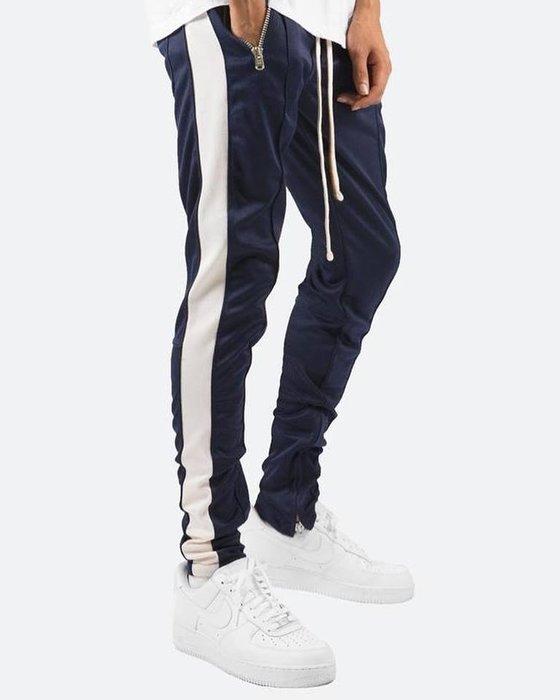 [ 羅崴森林 ] 現貨Mnml 拉繩拉鍊運動褲💙海軍藍白S/M/L/XL