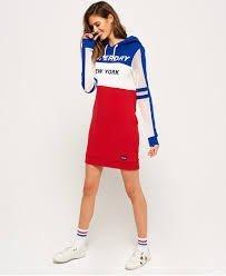 (新年大特價1800)正品Superdry極度乾燥 繡線Logo洋裝 + 白色運動鞋 穿上很潮很亮眼 AF roots