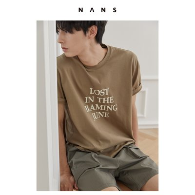 "【NANS】""炙熱六月""主題印字TEE / ""FLAMING JUNE"" TEE"