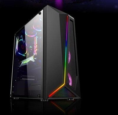 新殼上市 FLASH 流光RGB ATX 流光黑 玻璃側透機殼 水冷電競機殼 電腦機殼 鋼化玻璃機殼