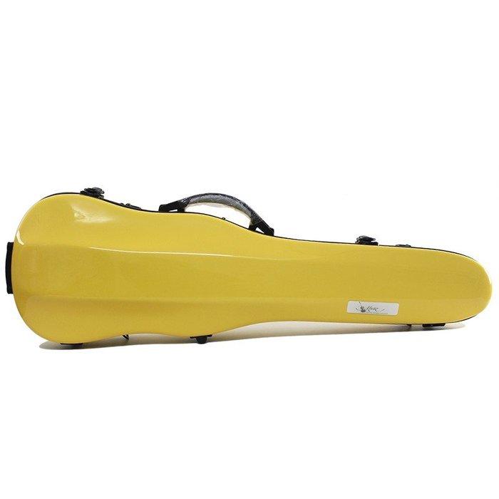 【三益琴行】黃色小提琴硬盒