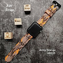 Camouflage Navy Rubber Strap 迷彩 橙色像膠帶 For Apple Watch