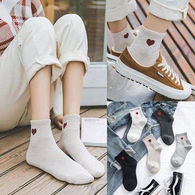 襪子女愛心中筒襪韓版學院風女士棉襪黑色襪子夏 季日系長襪可愛