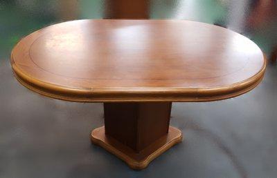 【宏品二手家具館】中古 家電 ~E121306實木餐桌*咖啡桌/會議桌/洽談桌/中古 書桌椅 會議桌椅 辦公桌椅