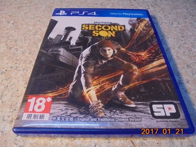 PS4 惡名昭彰-第二之子 inFAMOUS: Second Son 中英合版 直購價500元 桃園《蝦米小鋪》