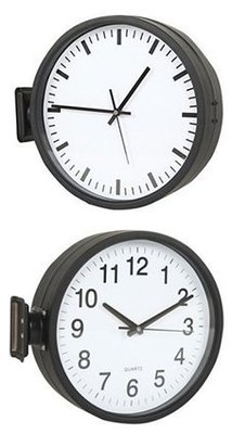 [On Loft]double sided clock設計師雙面鐘loft地鐵雙面車站鐘-12寸刻度+數字、雙面數字款