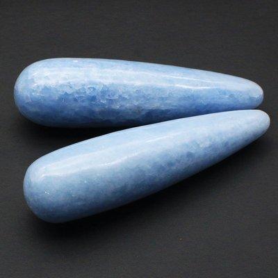 水晶天然藍晶石原石礦擺件長條形按摩棒手把件把玩