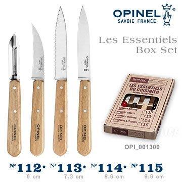 OPINEL NATURAL   SET 法國不銹鋼廚房刀具4件組(#OPI_001300)【AH53113】JC雜貨
