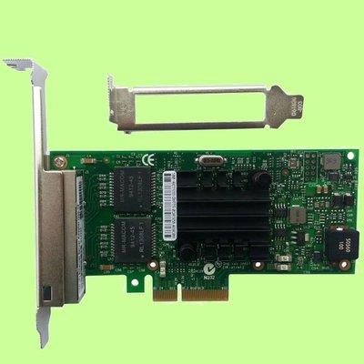 5Cgo【權宇】全新intel i350AM4 4口四埠千兆網卡PCI-E I350-T4伺服器1G 1Gb/s網卡含稅