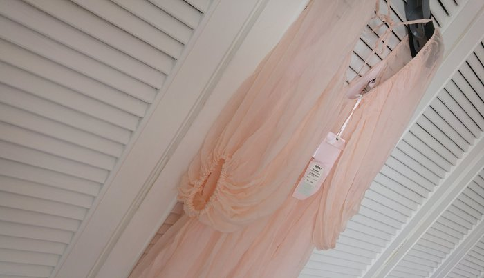 原價$13800 DUNE 粉色蝴蝶袖仙氣短洋裝