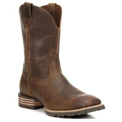 Ariat Mens Hybrid Street Side Powder Brown Square Toe Cowboy  10016289 NIB男靴