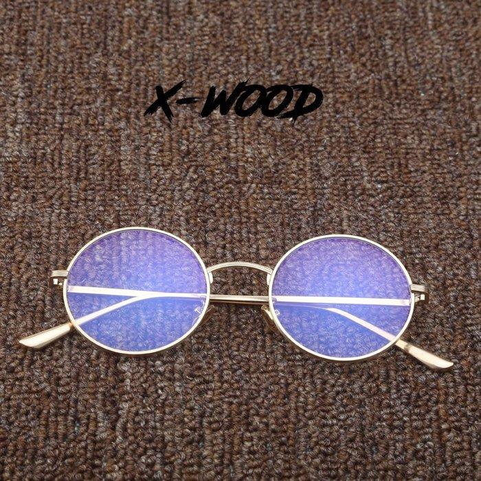 888利是鋪-吳亦凡同款眼鏡墨鏡中國有嘻哈小圓形框眼鏡結婚伴郎復古男女#復古眼鏡