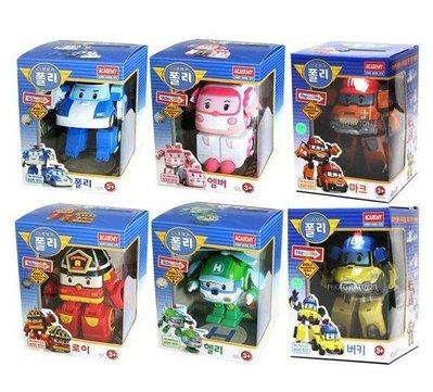 【新增2款】馬克/巴奇(一組6款)不分售Robocar Poli最新救難小英雄~波力變型機器人變型車/安寶/赫利/羅伊