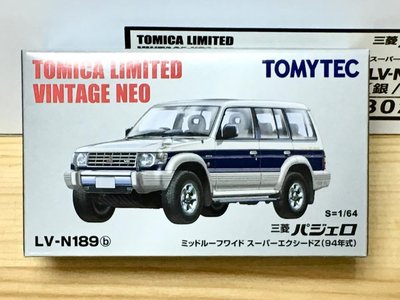 TOMYTEC LV-N189b 三菱 PAJERO SUPER EXCEED Z (94年式, 青)