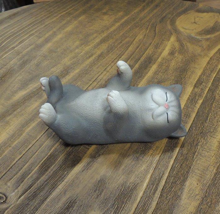 療癒手機架 可愛貓咪手機座 貓咪手機架 小灰貓咪擺飾 做工細緻 軟萌貓咪趣味療癒 美觀實用的小貓擺飾 送禮自用皆宜