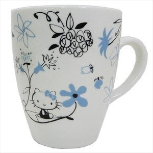 4165本通 日本製 凱蒂貓 馬克杯 (亞洲風/藍花/紅花) 下標前請詢問