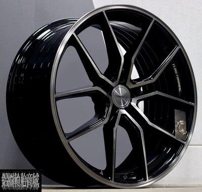 全新 高質感 ASGA ARF04 19吋鋁圈 旋壓輕量化 黑底髮絲銀 規格齊全 *完工價*