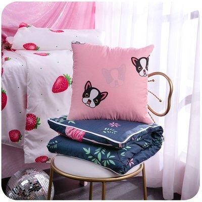折疊小毯子抱枕空調被子兩用多功能個性可愛枕頭三合一午睡神器女