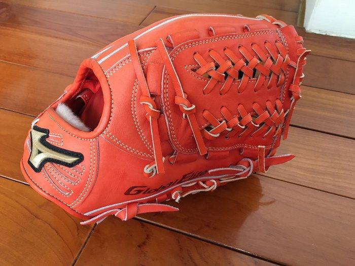 全新 日本帶回 日本製 美津濃 Mizuno Global Elite GE 橘紅 硬式用 內野手套 2GW-12543