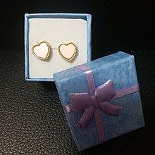 全新心形耳環,送禮盒,郵寄,郵資另付。