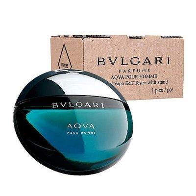 Bvlgari AQVA 寶格麗 水能量 男性淡香水 TESTER 100ML