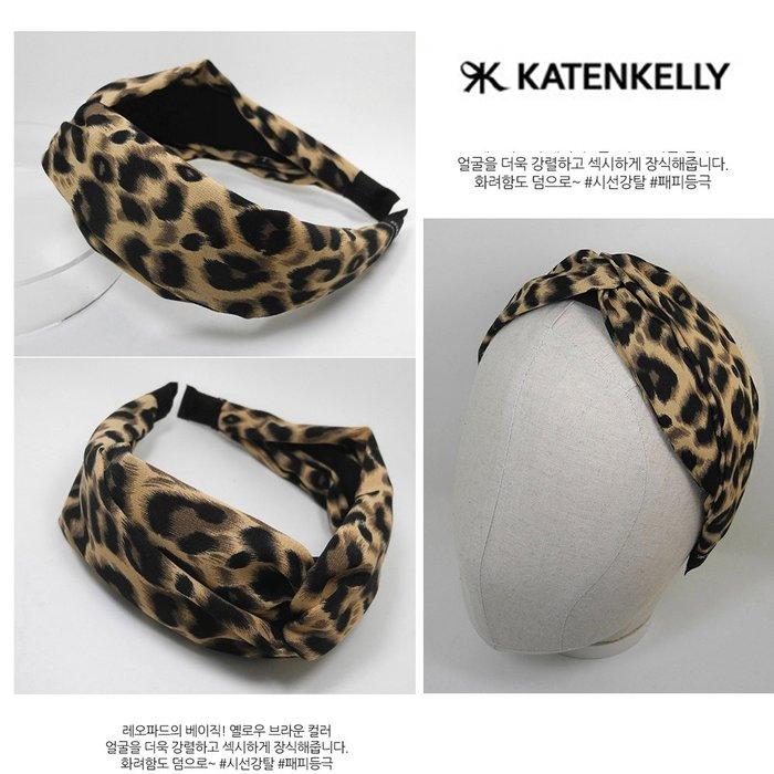 特價【韓Lin代購】韓國 KATENKELLY 豹紋蝴蝶結髮箍 EOPARD TURBAN BAND