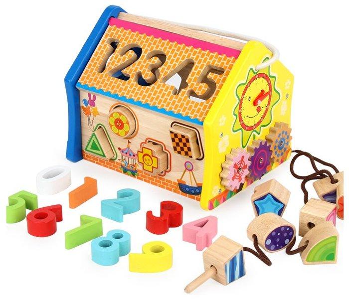 【好孩子福利社】嬰幼兒童玩具 益智拆拼裝智慧屋 形狀配對屋 益智教育玩具